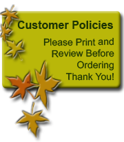 Bailey Wood Products Customer Policies