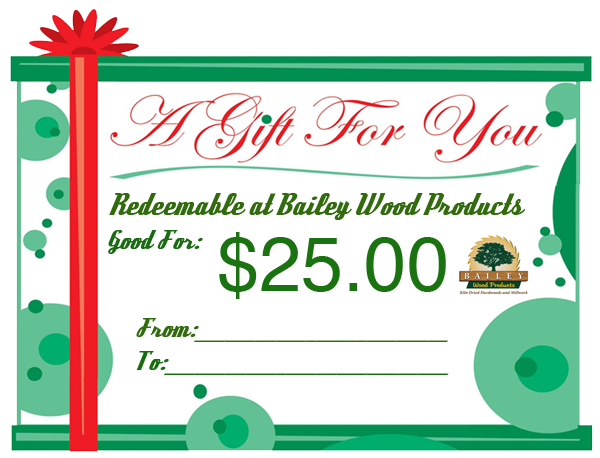 Purchase Bailey Gift Certificates Online