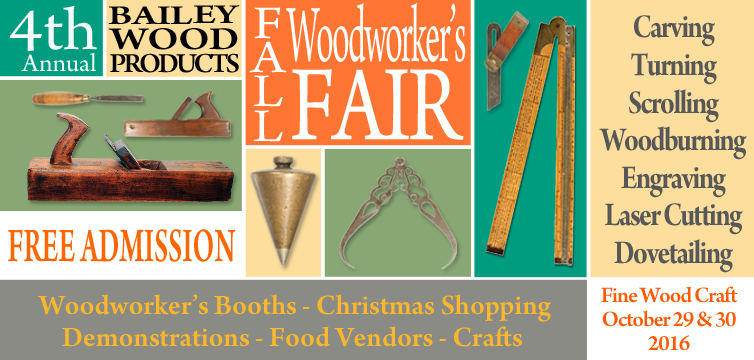 2016, 4th Annual Fall Woodworker's Fair