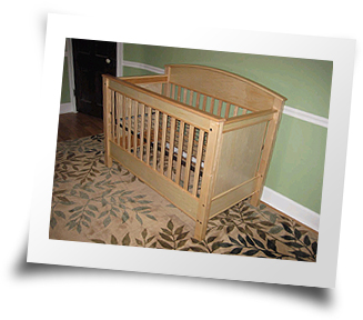 Hard Maple Crib made by Troy Jenkins