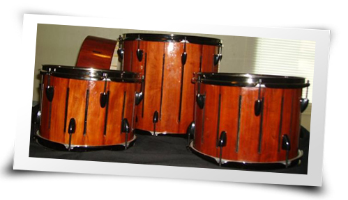 Drum set made out of soft maple made by Stavent Drums