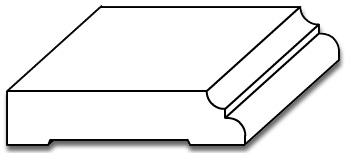 BB013 - Baseboard Moulding with Cove & Bead - 3D